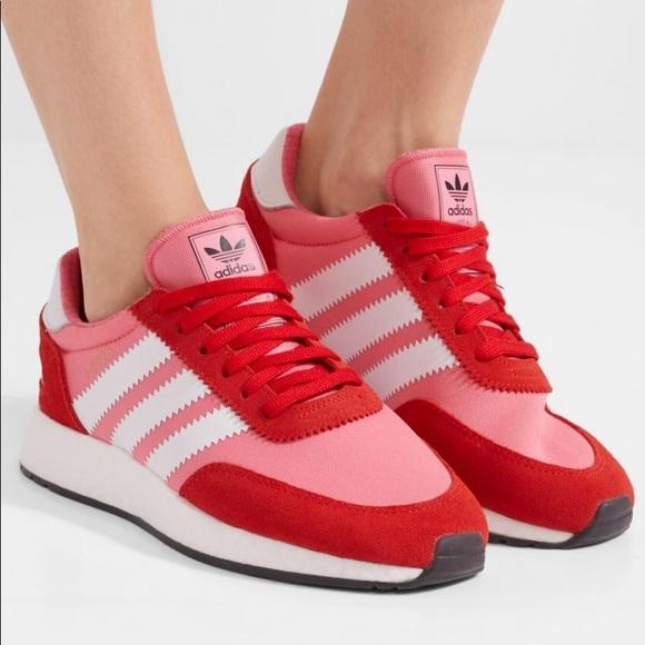 Womens Adidas I 5923 Iniki Runner Sneaker In Chalk Pink Red